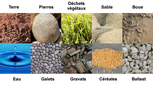 Aspiratrice-Excavatrice liste matériaux aspirables